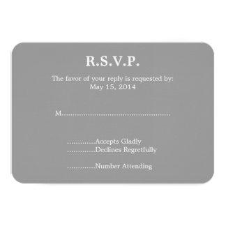 Piano Wedding RSVP Card
