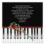 Piano Wedding Vow Renewal 13 Cm X 13 Cm Square Invitation Card