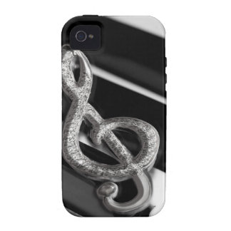 Piano with Music symbol Staff Gclef Vibe iPhone 4 Case