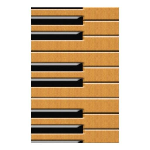 Piano wood personalized stationery