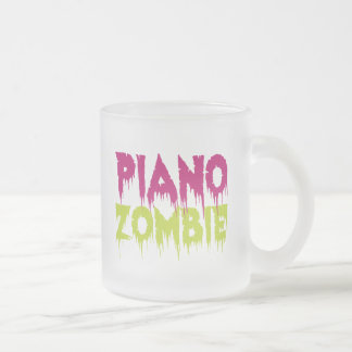 Piano Zombie Frosted Glass Mug