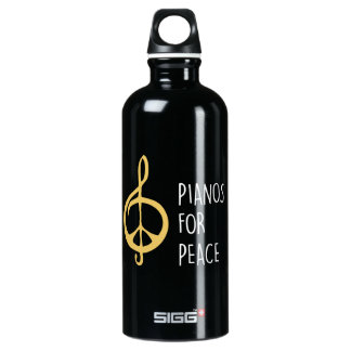 Pianos For Peace Black Water Bottle (0.6L)