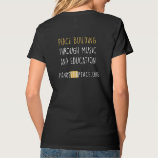 Pianos For Peace Women's V-Neck Black T-Shirt