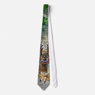 Piasa Bird Oil Landscape Painting Tie