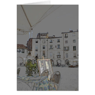 Piazza Anfiteatro in Lucca, Italy Card