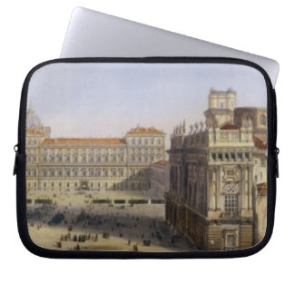 Piazza Castello, Turin, engraved by F. Citterio (c Laptop Sleeve