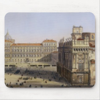 Piazza Castello, Turin, engraved by F. Citterio (c Mouse Mat