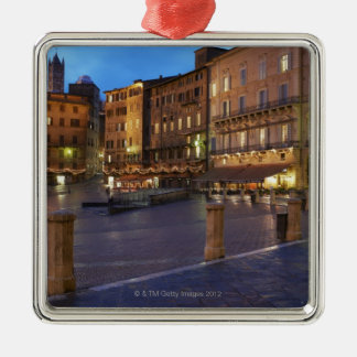 Piazza Del Campo at dusk,Siena. Christmas Ornament