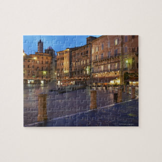 Piazza Del Campo at dusk,Siena. Jigsaw Puzzle