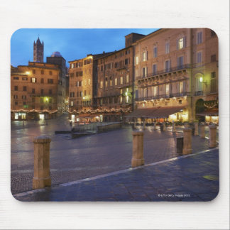 Piazza Del Campo at dusk,Siena. Mouse Pad