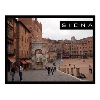 Piazza del Campo, Siena black frame postcard
