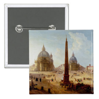 Piazza del Popolo, Rome (oil on canvas) Buttons