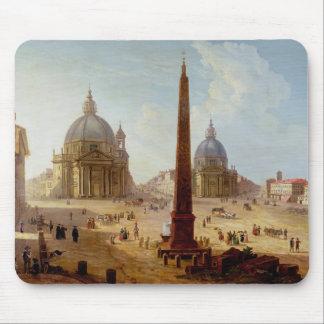 Piazza del Popolo, Rome (oil on canvas) Mouse Pad