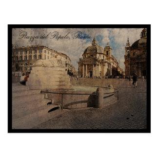 Piazza del Popolo, Rome Post Card