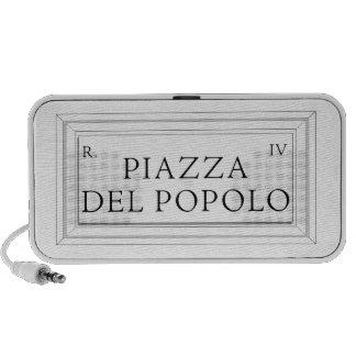 Piazza del Popolo Rome Street Sign Mini Speaker
