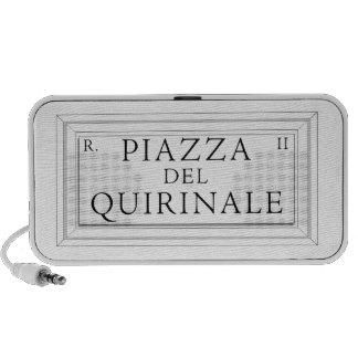 Piazza del Quirinale, Rome Street Sign Mp3 Speaker