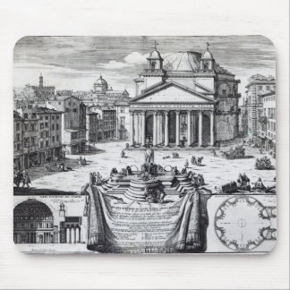 Piazza della Rotonda with a view of Pantheon Mouse Pad