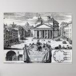 Piazza della Rotonda with a view of Pantheon Poster