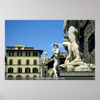 Piazza della Signoria Florence Italy Poster