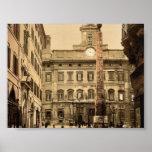 Piazza di Monte Citorio, Rome, Italy classic Photo Print