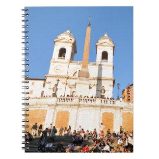 Piazza di Spagna, Rome, Italy Spiral Notebook