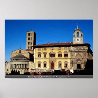 Piazza Grande, Santa Maria della Pieve, Arezzo, Tu Print