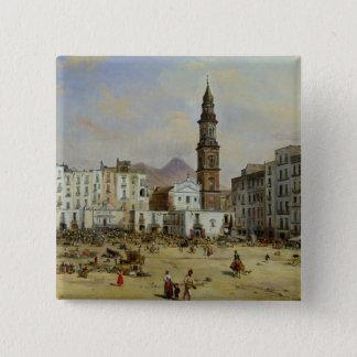 Piazza Mazaniello, Naples 15 Cm Square Badge