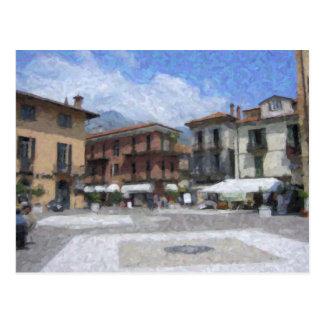 Piazza, Menaggio, Italy Postcard