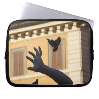 Piazza Navona Bernini fountain statue, pigeon in Laptop Sleeve