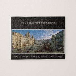 Piazza Navona, Rome custom art puzzle