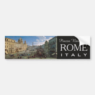 Piazza Navona, Rome custom bumpersticker Bumper Sticker