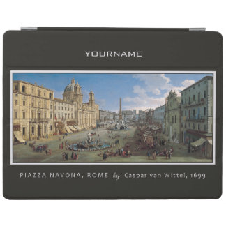 Piazza Navona, Rome custom monogram device covers iPad Cover