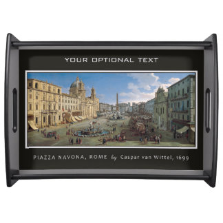 Piazza Navona, Rome custom serving trays