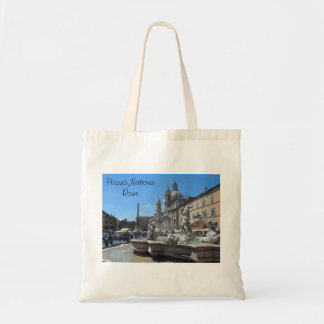 Piazza Navona- Rome, Italy Budget Tote Bag