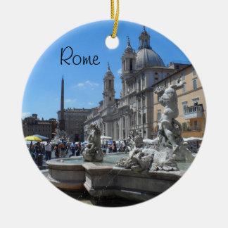 Piazza Navona- Rome, Italy Christmas Ornament