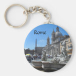 Piazza Navona- Rome, Italy Basic Round Button Key Ring