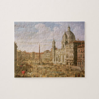 Piazza Navona, Rome, looking South towards Palazzo Jigsaw Puzzle