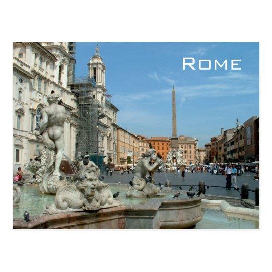 Piazza Navona - Rome Postcard