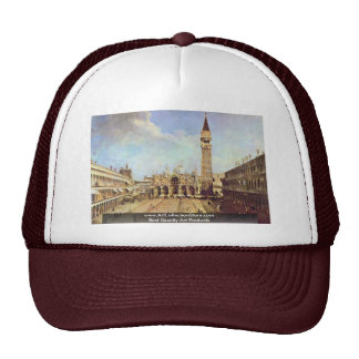 Piazza San Marco. By Canaletto Mesh Hat