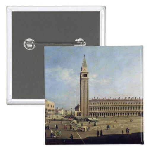 Piazza San Marco, Venice 15 Cm Square Badge