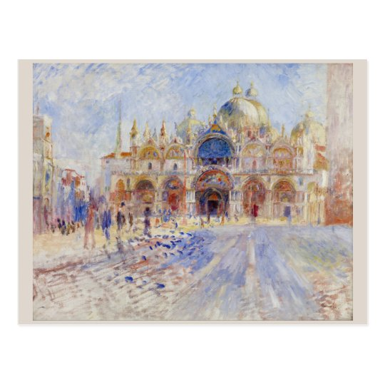 Piazza San Marco Venice by Pierre-Auguste Renoir Postcard