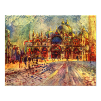 Piazza San Marco, Venice by Pierre Renoir 11 Cm X 14 Cm Invitation Card