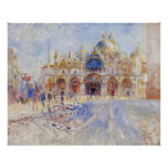 Piazza San Marco Venice by Renoir, Large Poster