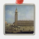 Piazza San Marco, Venice Silver-Colored Square Decoration
