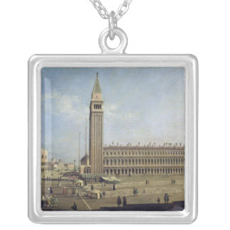 Piazza San Marco, Venice Silver Plated Necklace