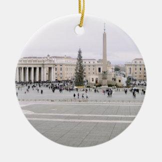 Piazza San Pietro Christmas Ornament