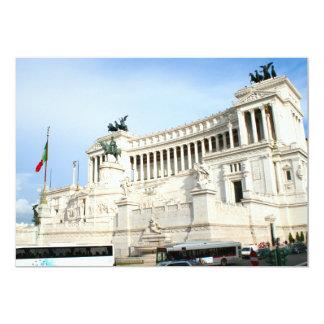 Piazza Venezia in Rome during rush hour 13 Cm X 18 Cm Invitation Card