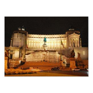 Piazza Venezia, Rome 13 Cm X 18 Cm Invitation Card