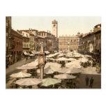 Piazzi delle Erbe, Verona, Italy Postcards
