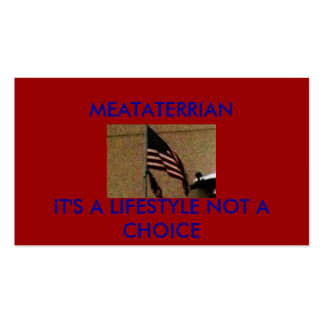 pic006, MEATATERRIAN, IT'S A LIFESTYLE NOT A CH... Pack Of Standard Business Cards